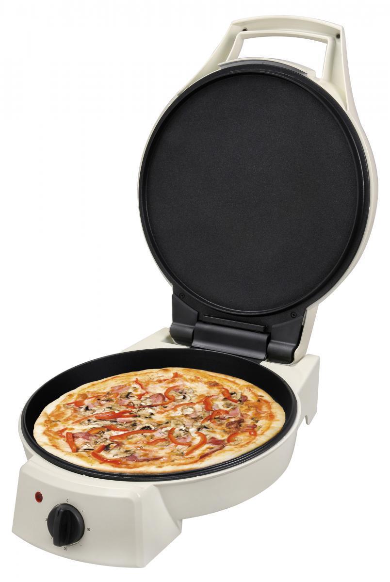 Bild 2 von KitchenOriginals Pizzapfanne TKG PZP 1002 elektrische Pfanne Creme-Weiß