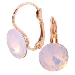 Damen Ohrringe mit rosa Schmuckstein