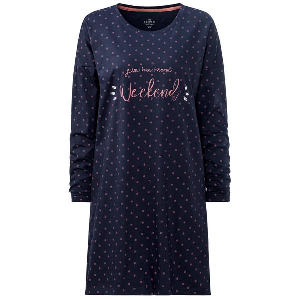 Damen Nachthemd mit Ziersteinen von Ernstings Family ansehen!