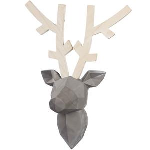 Wandhänger Hirsch mit Geweih aus Holz