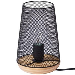 Tischlampe mit schwarzem Drahtschirm