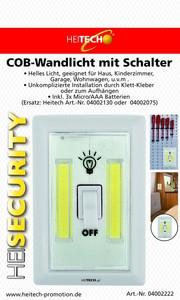 Heitech COB-Wandlicht mit Schalter