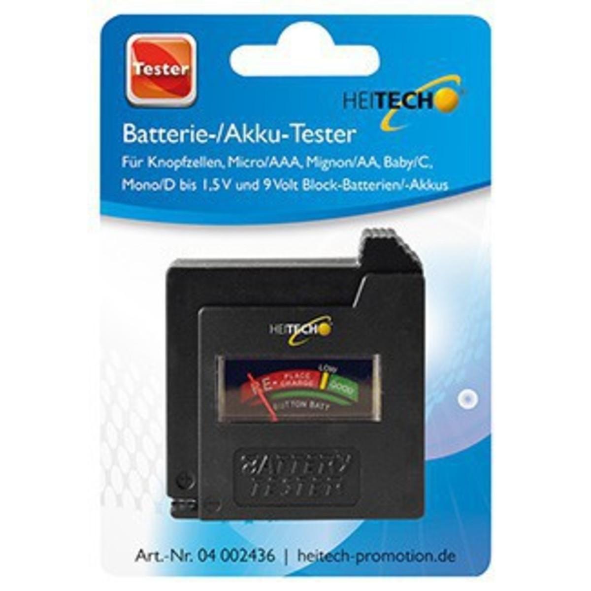Bild 1 von Heitech Batterie-/ Akku-Tester
