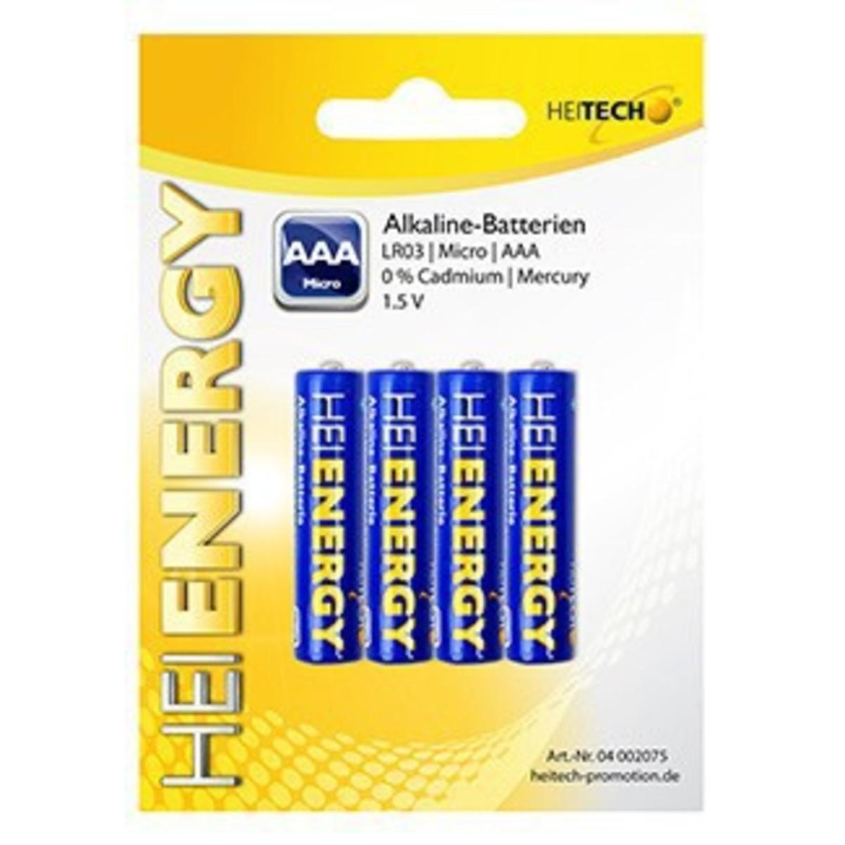 Bild 1 von Heitech Alkaline Batterien, 4-er Pack Micro/AAA