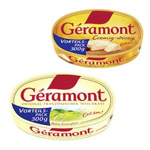 Géramont Französischer Weichkäse, 60 % Fett i.Tr., versch. Sorten, jede 300-g-Packung