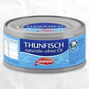Saupiquet Thunfisch in Sonnenblumenöl oder naturale jede 185-g-Dose/140 g Abtropfgewicht