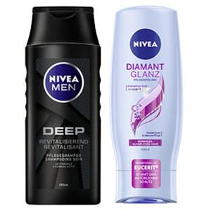 Nivea Shampoo oder Spülung versch. Sorten, jede 200/250-ml-Flasche