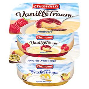 Ehrmann Früchte-, Vanille-, oder Grieß-Traum versch. Sorten, jeder 115-g-Becher