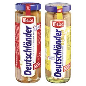 Meica Deutschländer Würstchen jedes 6 Stück = 330-g-Glas
