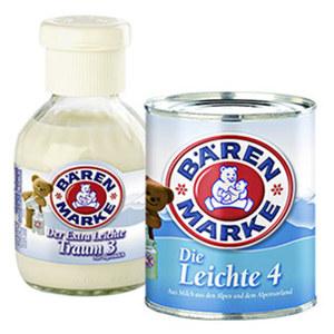 Bärenmarke der extra leichte Traum 3 % oder Die Leichte 4 jede 170-g-Flasche/340-g-Dose