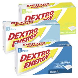 Dextro Energy Würfel versch. Sorten,  jede 3er = 138-g-Packung
