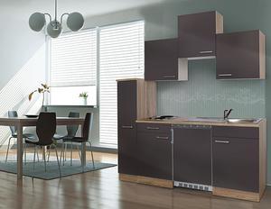 respekta Economy Küchenblock 180 cm, grau ESK