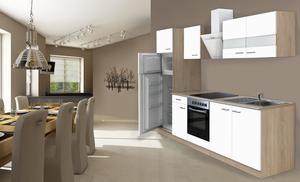 respekta Economy Küchenblock 270 cm, weiß