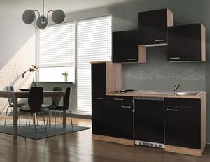 respekta Economy Küchenblock 180 cm, schwarz ESK