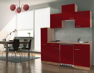 respekta Economy Küchenblock 180 cm, rot ESK