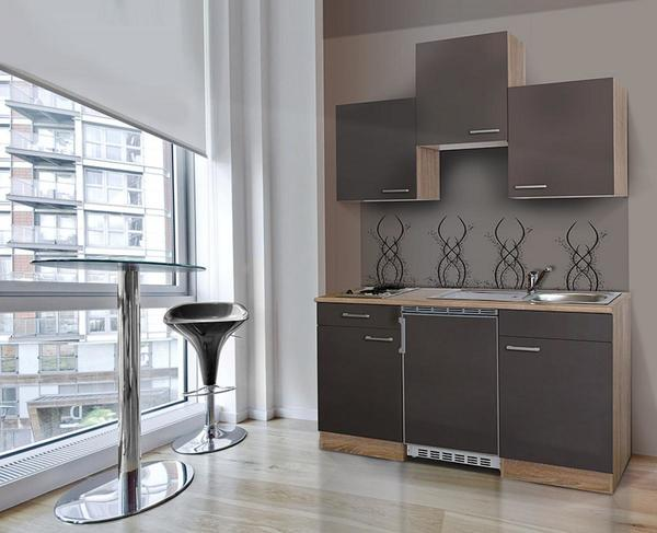 respekta Economy Küchenblock 150 cm, grau ESK