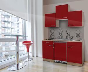 respekta Economy Küchenblock 150 cm, rot ESK