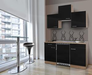 respekta Economy Küchenblock 150 cm, schwarz ESK