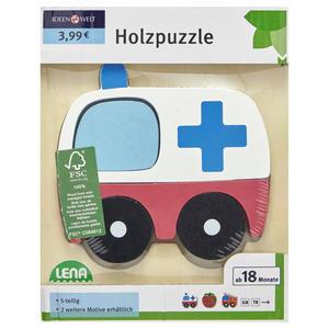 IDEENWELT Holzpuzzle Krankenwagen