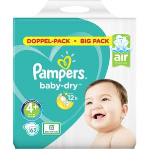 Pampers Baby Dry Windeln Doppel-Pack Gr. 4+, 10-15 kg
