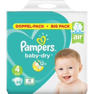 Pampers Baby Dry Windeln Doppel-Pack Gr. 4, 9-14 kg