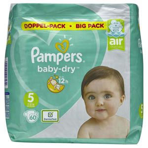 Pampers Baby Dry Windeln Doppel-Pack Gr. 5, 11-16 kg