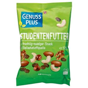 GENUSS PLUS Studentenfutter 1.02 EUR/100 g