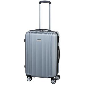 Hartschalen-Koffer in Silberoptik