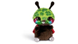 NICIdoos Flashies Kuscheltier Marienkäfer Luckymacky mit LED-Augen  12 cm