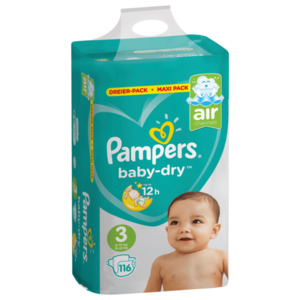 Pampers Baby Dry Gr.3 Midi 6-10kg Maxi-Pack 116 Stück