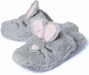 Damen Hausschuhe - Hase, grau Gr. 41