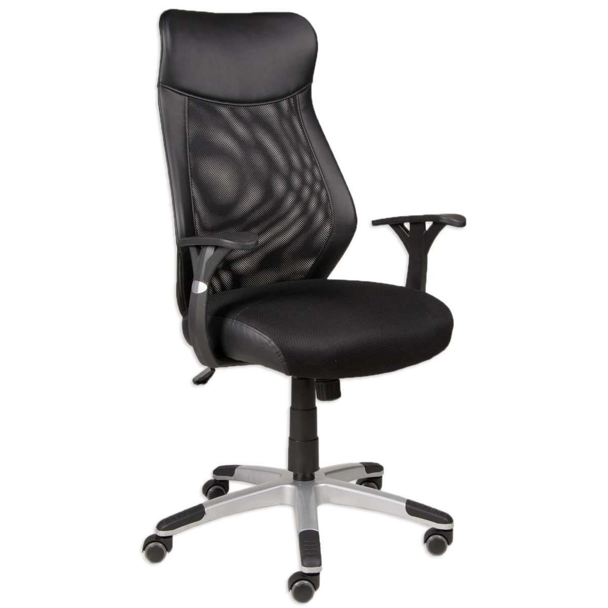Bild 1 von Drehstuhl NIKO - schwarz - mit Netzrücken - höhenverstellbar