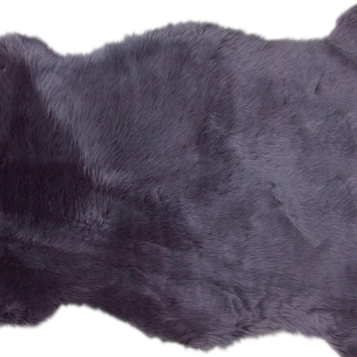 Bild 3 von Schaffellteppich 90x60cm Anthrazit