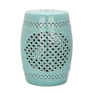 Keramikhocker Quatrefoil - LichtBlau, Safavieh