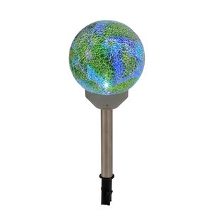 EEK A+, LED Solar-Außen-Kugelleuchte 1-flammig - Multicolor Glas, Näve