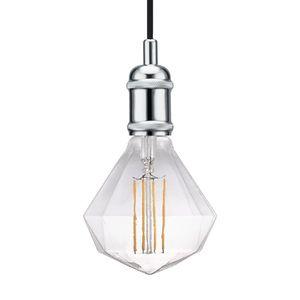 EEK A++, LED-Pendelleuchte Avra II - Stahl - 1-flammig - Chrom, Nordlux