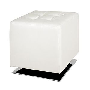 Polsterhocker Trafalgar - Kunstleder Weiß, Home Design