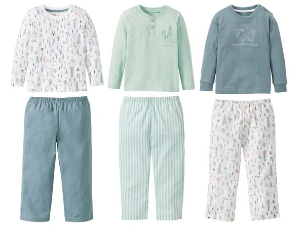 LUPILU® PURE COLLECTION Kleinkinder Jungen Pyjama