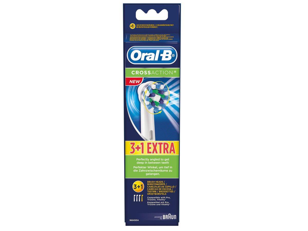 Bild 1 von Oral-B Bad Zahnbürstenköpfe Cross Action 3+1