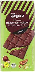 BIO Veganz Rice Choc Haselnuss-Krokant 80 g