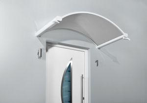 Gutta Typ NO Klar Rundbogenvordach, 160 x 90 cm, weiß