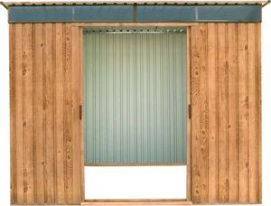 Tepro Pent Roof Skylight 8x6 Metallgerätehaus, eiche