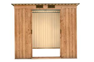 Tepro Metallgerätehaus Pent Roof Holz-Dekor Eiche, 6x4
