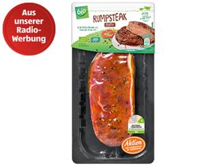 bio Rumpsteak oder Rib-Eye-Steak