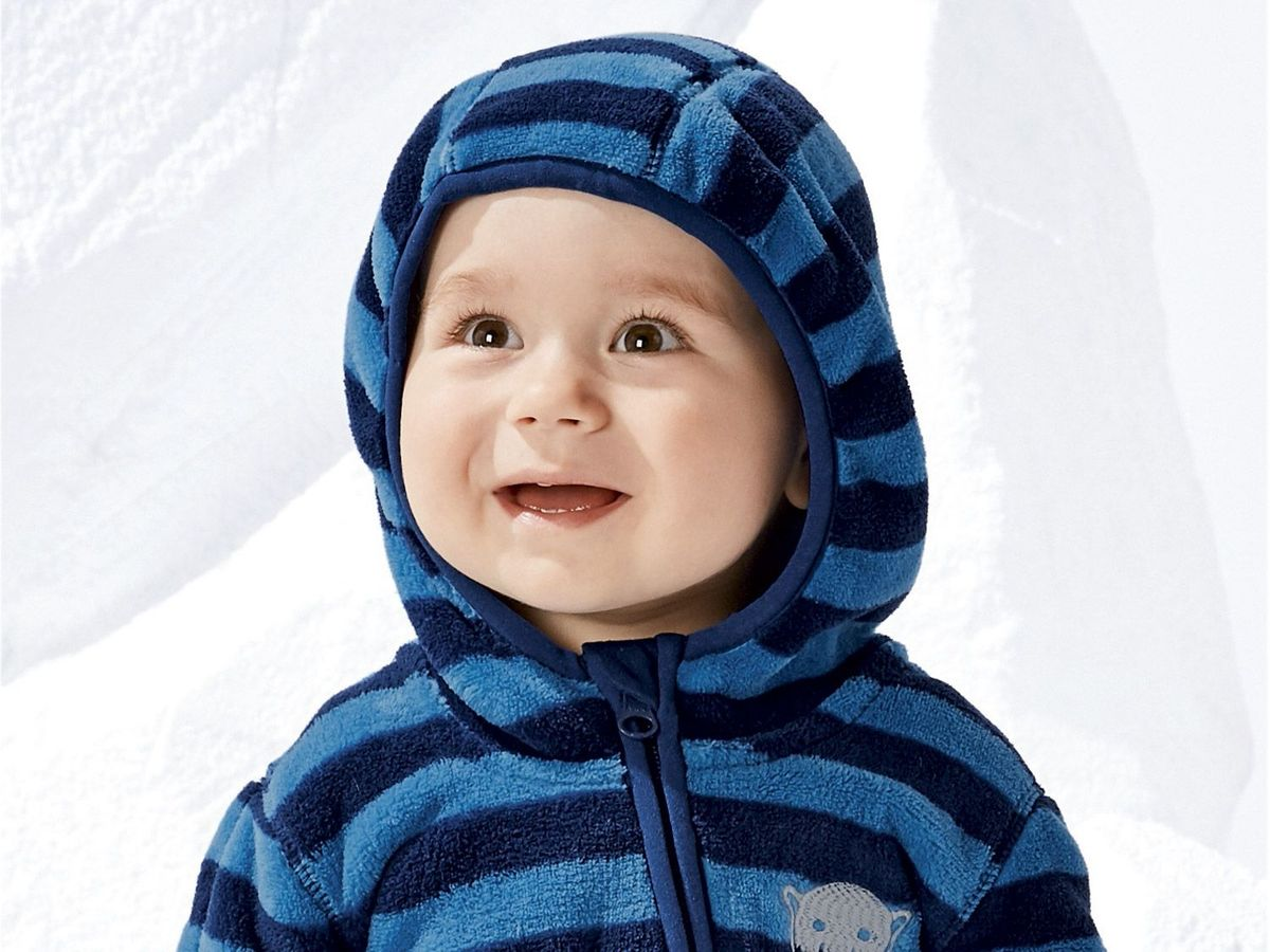 Bild 5 von LUPILU® Baby Jungen Fleeceoverall