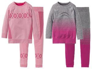 LUPILU® Kleinkinder Mädchen Ski-Unterwäsche, 2-teilig
