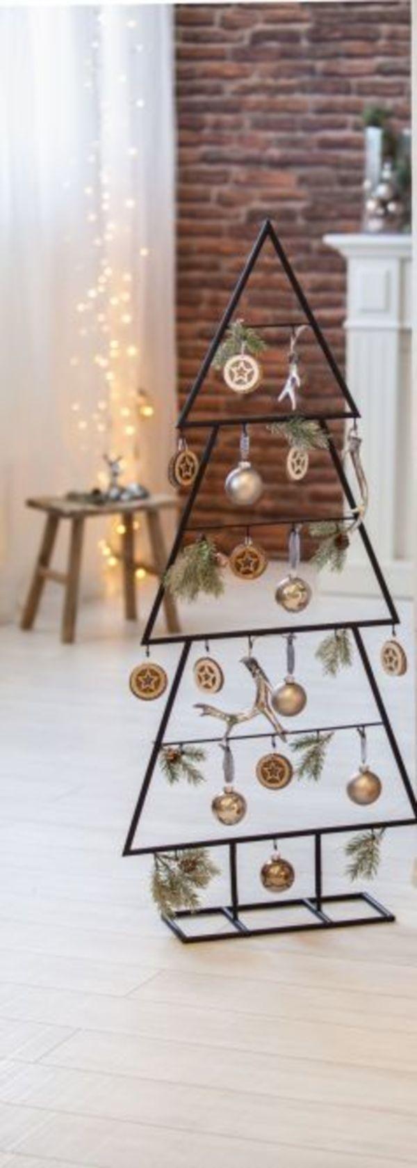 standdeko weihnachtsbaum metall schwarz ohne. Black Bedroom Furniture Sets. Home Design Ideas