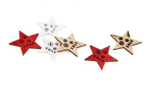 Streudeko Sterne - aus Holz