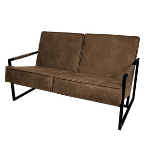 Sofa Manchester II (2-Sitzer) - Antiklederlook - Cubanit, ars manufacti