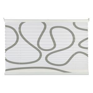 Plissee Free Move - Weiß / Grau - 80 x 210 cm, mydeco